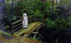 Bridge in Abramtsevo by Ilya Repin, 1879.