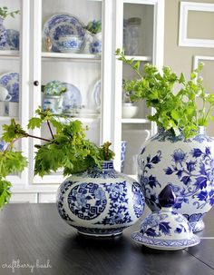 Craftberry Bush: Blue and White Porcelain in the Hutch