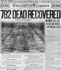 1915 eastland disaster | ... post disaster morgue after the Eastland Disaster on July 24, 1915
