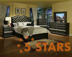 Hollywood Glamour 6pc Bedroom Set