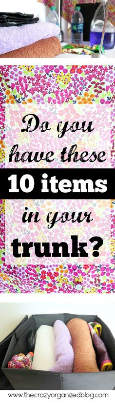 What's in YOUR trunk? Make sure you have these key essentials stored in your trunk!