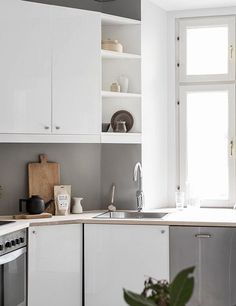 Minimal kitchen in muted color tones via Coco Lapine Design.  Join and get your exclusive subscription of elevated essentials for design enthusiasts @ minimalism.co