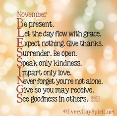 November blessings ~ #blessings everydayspirit.net