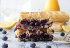 "The #Brie and #Blueberry #Waffle #Grilled #Cheese by mtlblog will leave you saying ""One more please!"""