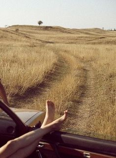 wide open roads::bare feet