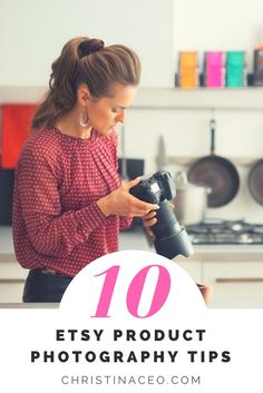 Want beautiful photos for your handmade items? It's important to use the right tools and resources. Check out my top 10 photography tips for Etsy sellers!
