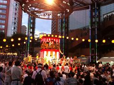 Bon Odori @ Roppongi Hills today, on 08/25(S).  Bon Odori (dancing) originates from Buddhism. People danced for repose of the souls of the dead. Nowadays, it is an event for joy, than for a religious reason. In general, musicians and singers stand at the center (often times, on a turret), and people dance around them. Summer and autumn are the seasons of Bon Odori. photo by Michiko Tanaka http://www.roppongihills.com/events/2013/08/arn_bon/