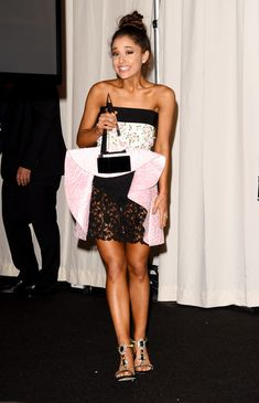 Ariana Grande wins at the 2015 American Music Awards.