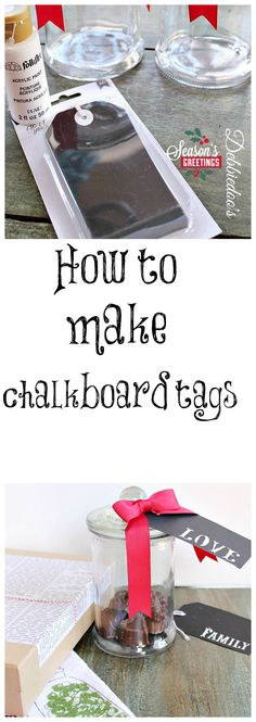 How to make your own #chalkboard tags. #Christmas or any special occassion.