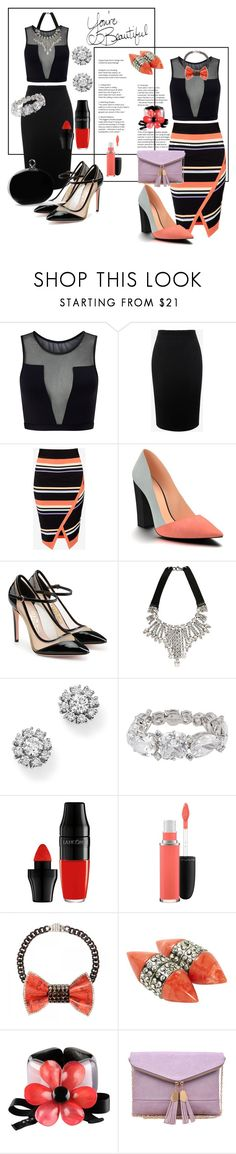 """""""You Are Beautiful"""" by glamourgrammy ❤ liked on Polyvore featuring Varley, Alexander McQueen, Ted Baker, Shoes of Prey, Salvatore Ferragamo, Emanuele Bicocchi, Roberto Coin, Henri Bendel, Lancôme and MAC Cosmetics"""