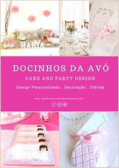 Sugestão Docinhos da Avó para as suas Festas com design personalizado, ofertas docinhas e decoração de mesa e de espaço.