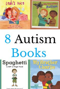 8 children's books about autism. Great for helping kids understand about autism.