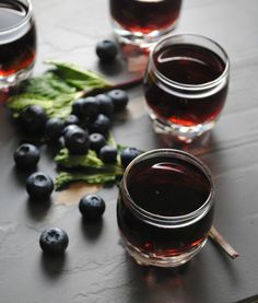 Blueberry Mint Infused Tequila - This infused tequila is the perfect take home gift for the Holidays! @mashable