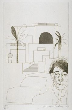 David Hockney 'Portrait of Cavafy II', 1966 © David Hockney