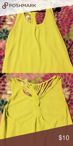 "Yellow ""San Joy"" top Beautiful yellow top. Only worn about 2 times Tops Blouses"