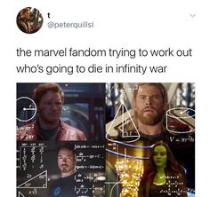 I'm guessing Tony and Steve, more than likely Vision. Not sure if Hulk is killable, so we'll see. Thor just move Asgard to Earth, doubtful they'll kill him off. Everybody else has sequels and first movies in the future, so, yeah. That's my guess...