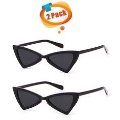 495597d5e6047 Metal Hinge Women Butterfly Cat Eye Sunglasses Fashion Triangle Glasses -  Black6 - CB18907ND7M - Women s