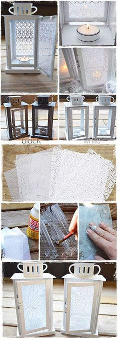 DIY Lace Lanterns
