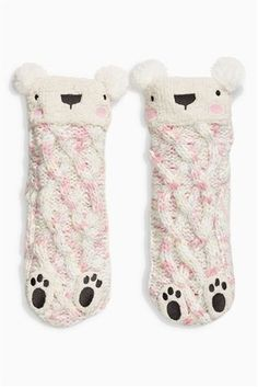 Buy Pink Bear Slipper Socks (Older Girls) from the Next UK online shop