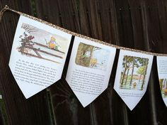 Classic Winnie the  Pooh Storybook Bunting via Etsy