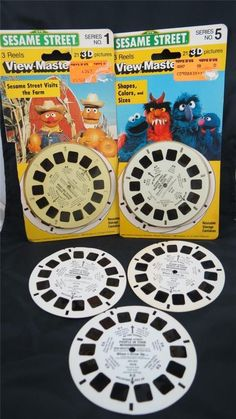 Vintage Sesame Street View-Master 3-D Reels Serie No.5, No.1 + 3 extra reels in Collectibles | eBay