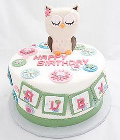 Home & Garden Kitchen, Dining & Bar Baby Owls {blue & Orange} Edible Round Cake Topper Decoration