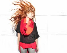 The Fire upcycled cashmere infinity scarf by Gina Michele on Etsy, $34.00