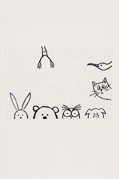 Funny girafe timbre peek-a-boo autour du timbre par WoodlandTale
