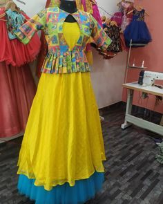 Image may contain: one or more people and people standing Kids Blouse Designs, Kurta Designs Women, Sleeves Designs For Dresses, Dress Neck Designs, Kids Dress Wear, Dresses Kids Girl, Designer Anarkali Dresses, Designer Dresses, Designer Wear