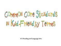 Crazy Speech World: Common Core Standards and SLP