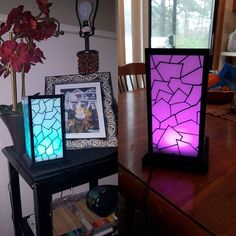 Long Distance Touch Lamps Blue Or Purple Pair Touch Lamp Friendship Lamps Lamp