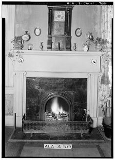 6.  Historic American Buildings Survey W. N. Manning, Photographer, January 23, 1935 MANTEL IN LIVING ROOM ON SOUTH SIDE - Arnold-Rowan House, 201 Murphy Street, Jacksonville, Calhoun County, AL