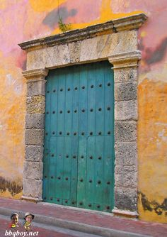 One of many incredible doors in Cartagena. See this post for more photos of our favorite colonial city: http://bbqboy.net/travel-tips-and-photo-essay-on-incredible-cartagena-colombia/ #cartagena #colombia