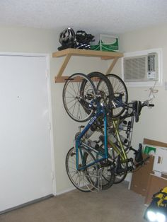 I like this idea of bicycle storage but I would want to clean up the look a little more.