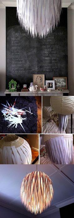DIY Lamp Shade. Start iith a paper lantern
