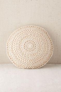 Plum & Bow Primrose Round Crochet Pillow