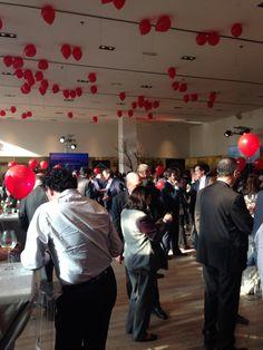 #fiesta #coctail #globos #rojos
