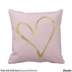 Pink with Gold Heart