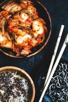 A kimchi story. Great closeup for food photography. Like the asymmetrical layout.