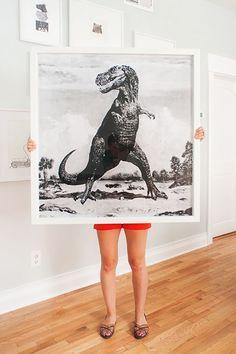 Dinosaur blueprint DIY art fun and pop