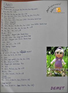 amigurumi doll pattern, amigurumi free pattern, amigurumi bebek yapılışı,
