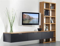 Smart home TV pole Living Room Wall Units, Living Room Tv Unit Designs, Living Room Modern, Living Room Decor, Tv Wall Design, House Design, Tv Wall Cabinets, Muebles Living, Appartement Design