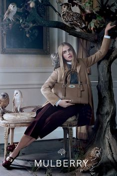 Mulberry Taps Cara Delevingne for Fall [Photo by Tim Walker]