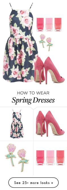 """pink !"" by madihahnas on Polyvore featuring Sans Souci, Dee Keller, Big Bud Press and Nails Inc."