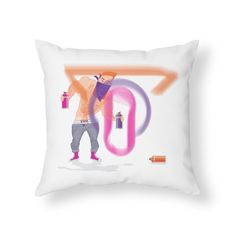 Ivo Graffiti  Home Throw Pillow by Ivo Caralhactus's Shop