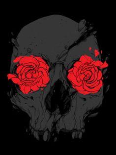 flores nos olhos