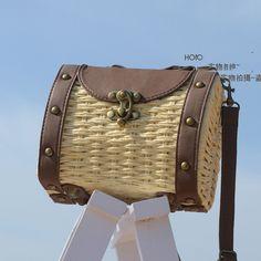 Palha saco de praia mulheres de verão bolsa de palha tecida saco de ombro A1175 em Bolsas de Ombro de Mochilas & bagagem no AliExpress.com | Alibaba Group