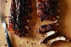 Ian Knauer's Sticky Balsamic Ribs recipe: Ditch the slow & low method while retaining tender tasty ribs. #food52
