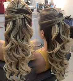 Super wedding hairstyles curly to the side low buns ideas Fancy Hairstyles, Wedding Hairstyles, Homecoming Hairstyles, How To Make Hair, Bridesmaid Hair, Hair Dos, Bridal Hair, Hair Inspiration, Curly Hair Styles