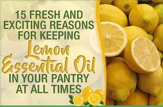 Fresh and Exciting Reasons For Keeping Lemon Essential Oil In Your Pantry At All Times 15 Fresh and Exciting Reasons For Keeping Lemon Essential Oil In Your Pantry At All Times Lemon Essential Oil Benefits, Cinnamon Essential Oil, Bergamot Essential Oil, Essential Oil Bottles, Lemon Essential Oils, Yeast Infection During Pregnancy, Yeast Infection Treatment, Stop Acid Reflux, Health Problems